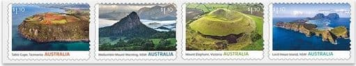 AUS 13/07/2021 Australia's Volcanic Past self-adhesive set of 4 from roll